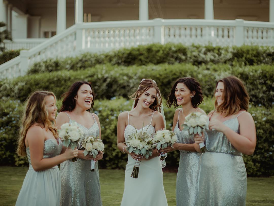 Jessica Szohr as a Bridesmaid at Her Sister's Wedding