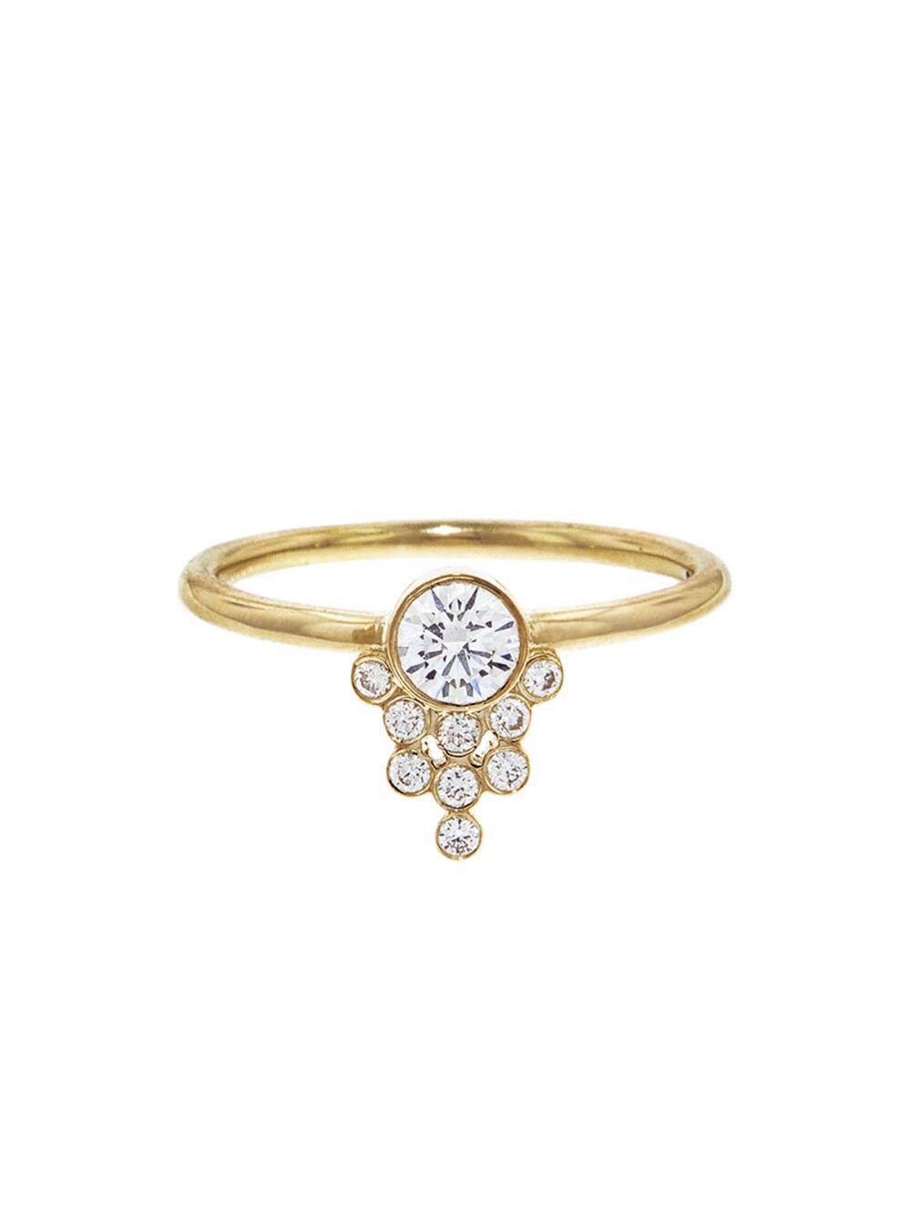 Diamond Cluster Drop Ring