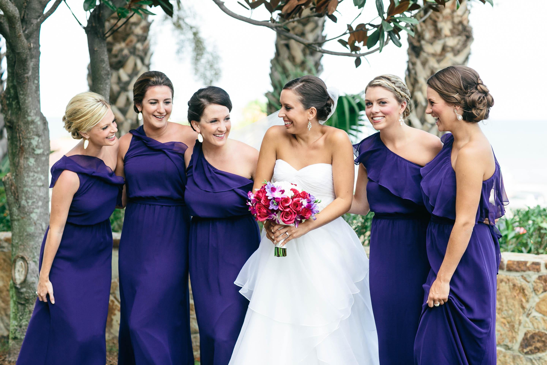 amethyst bridesmaid dresses