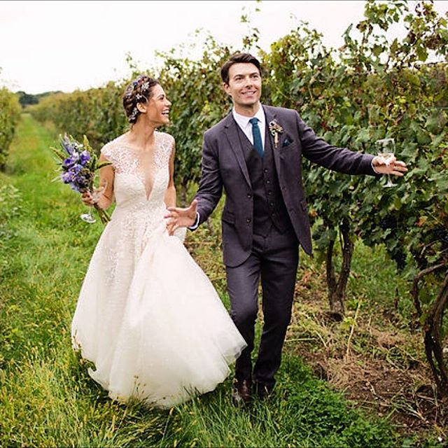 Lyndsy Fonseca and Noah Bean Wedding Portrait