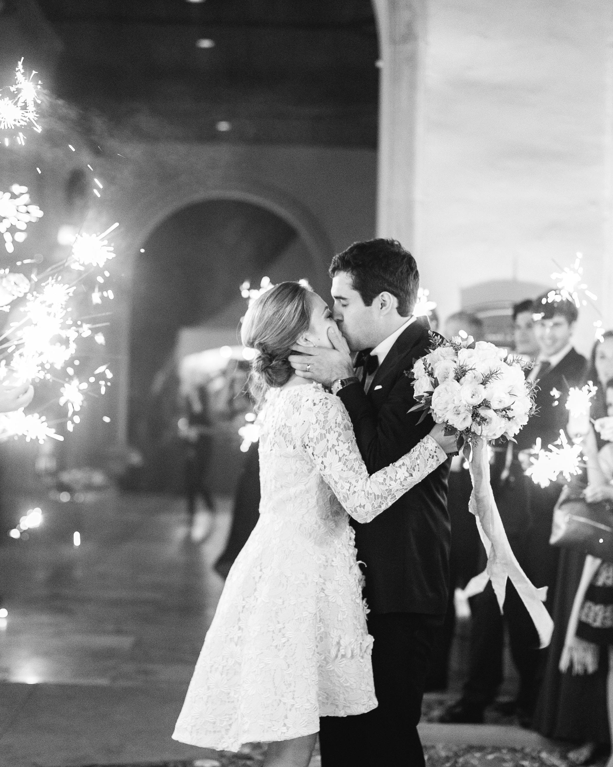 John Legend and Chrissy Teigen Kissing at Wedding