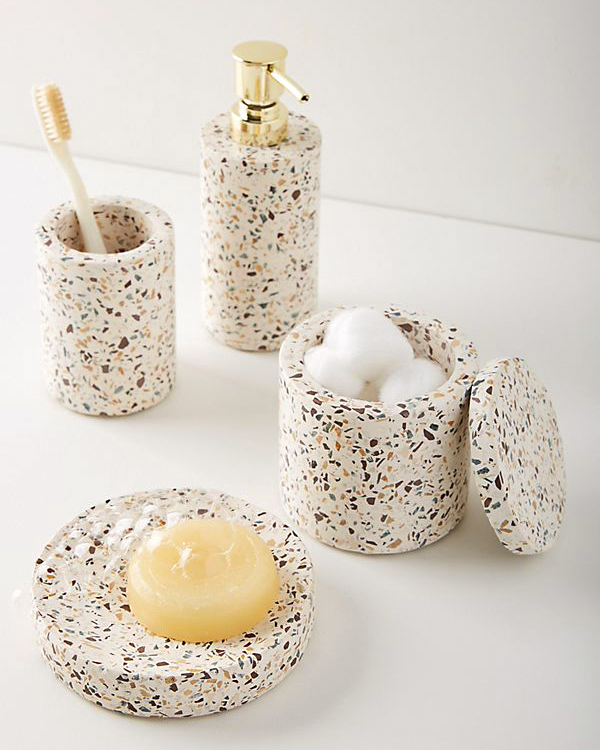 terrazzo marble bath collection