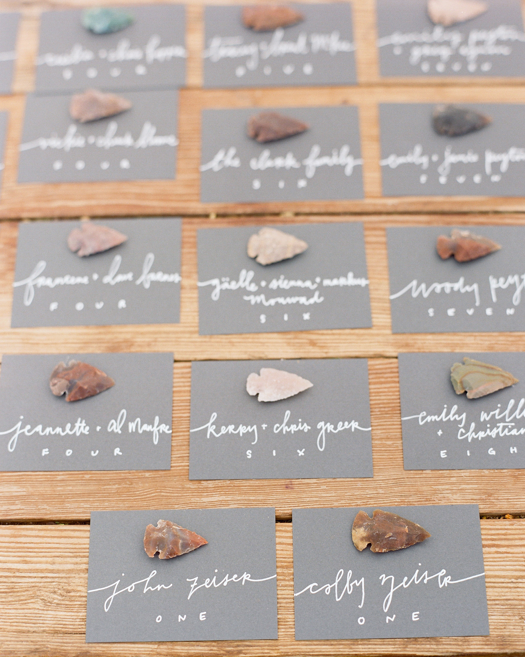 colby john wedding escort cards