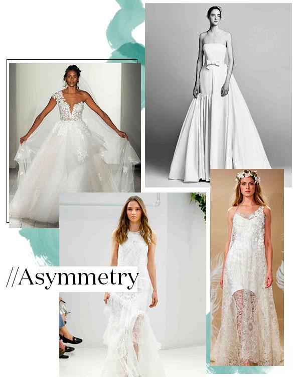 Fall 2017 Wedding Dress Trend: Asymmetry