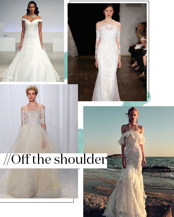 Fall 2017 Wedding Dress Trend: Off the Shoulder