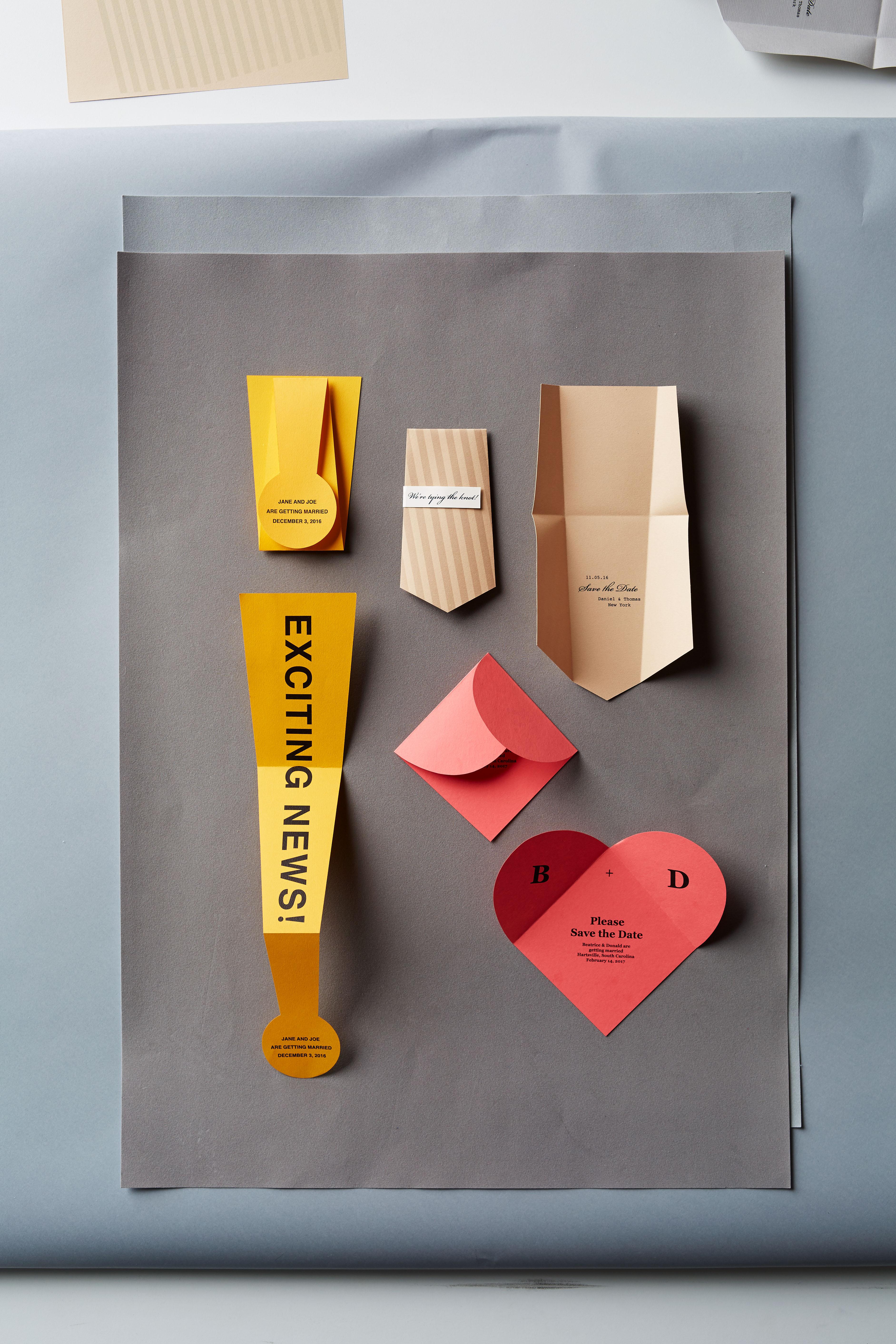 folding save the dates