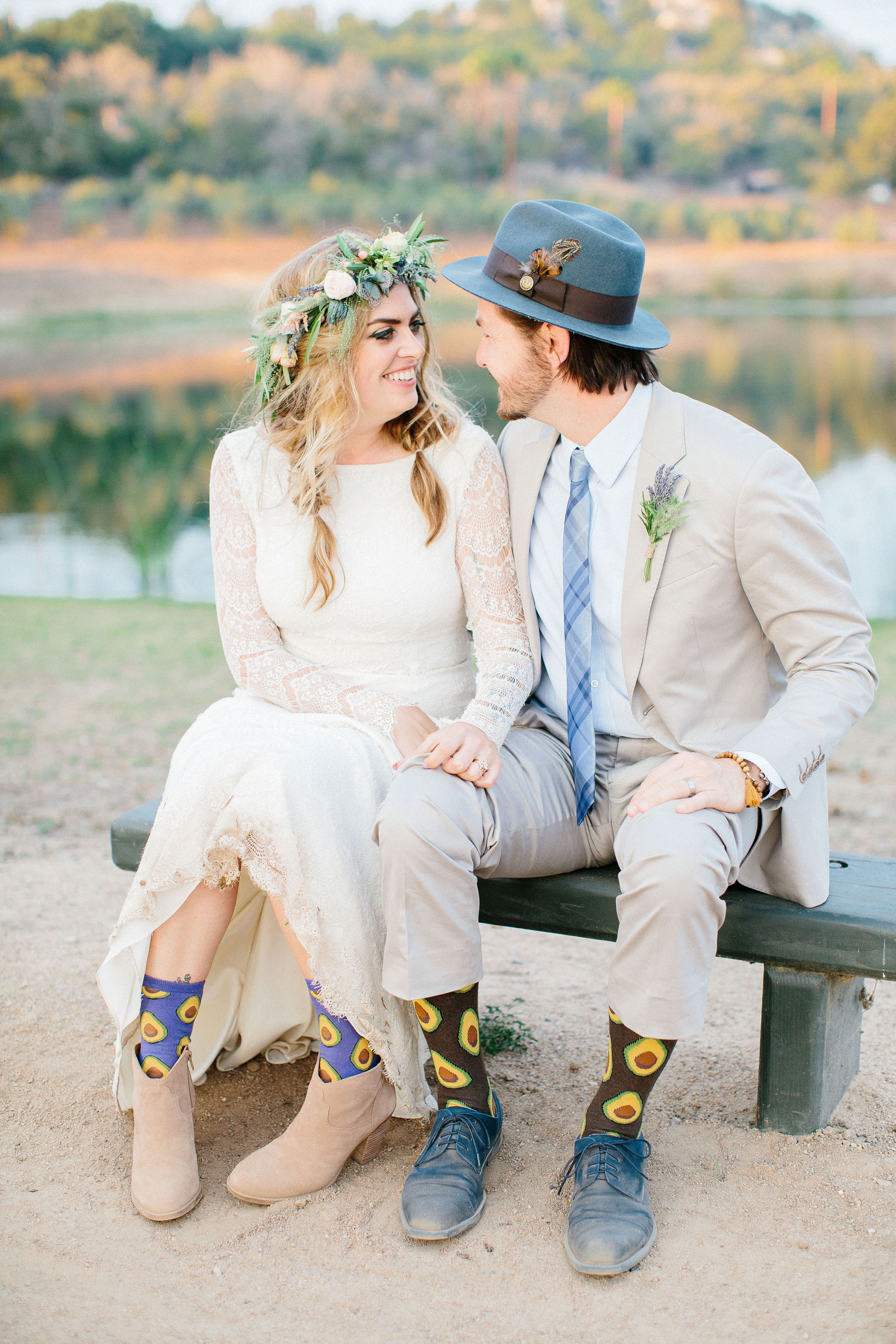 jackie dave wedding couple socks