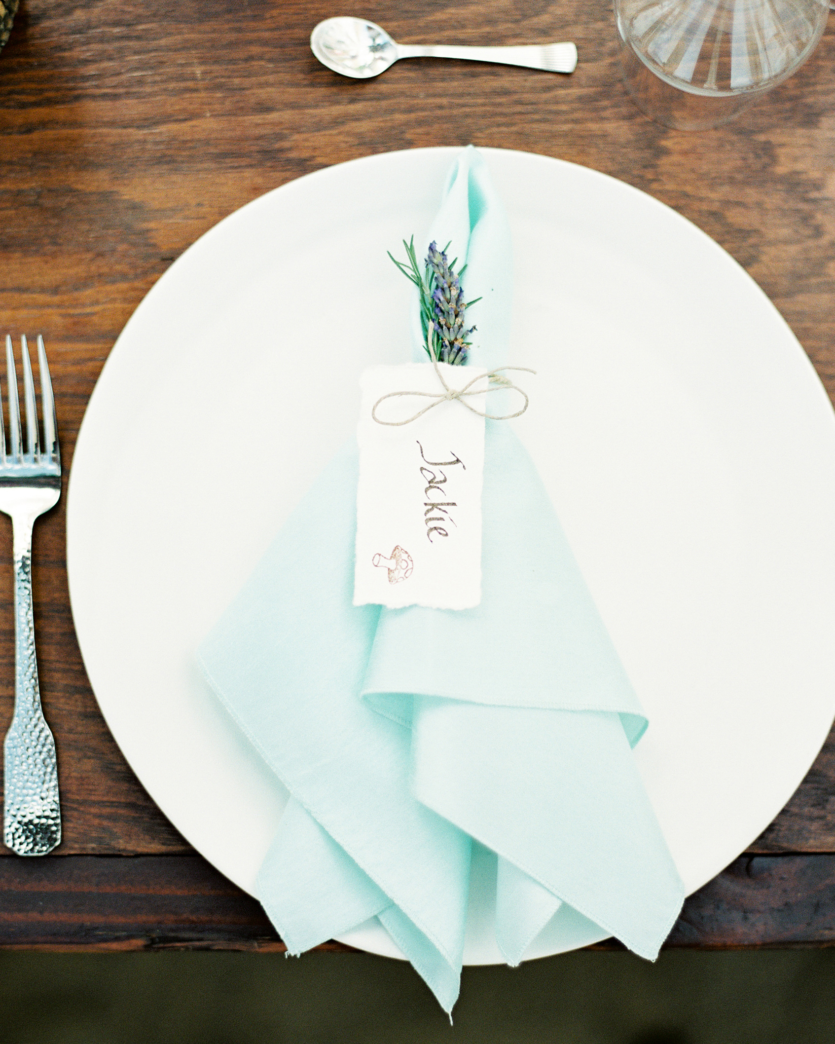 jackie dave wedding place setting