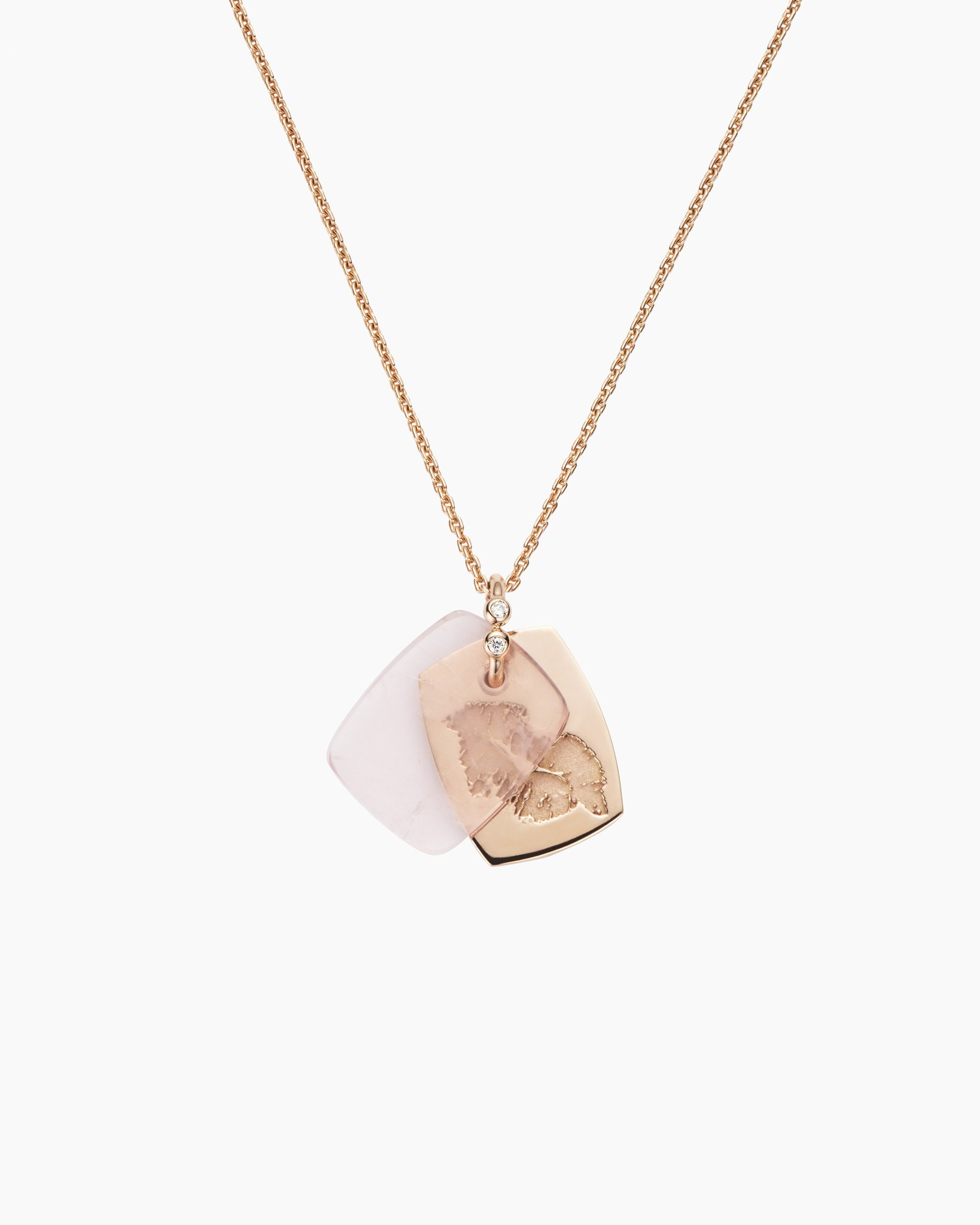 Rose Quartz Kiss Necklace