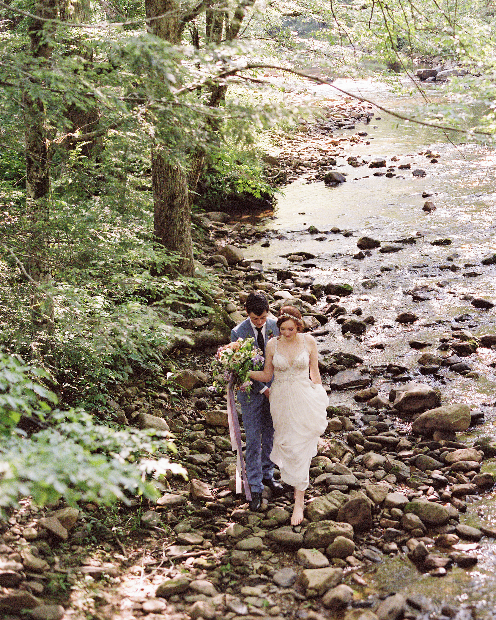 Larkin & Eric's Tennessee wedding - creek