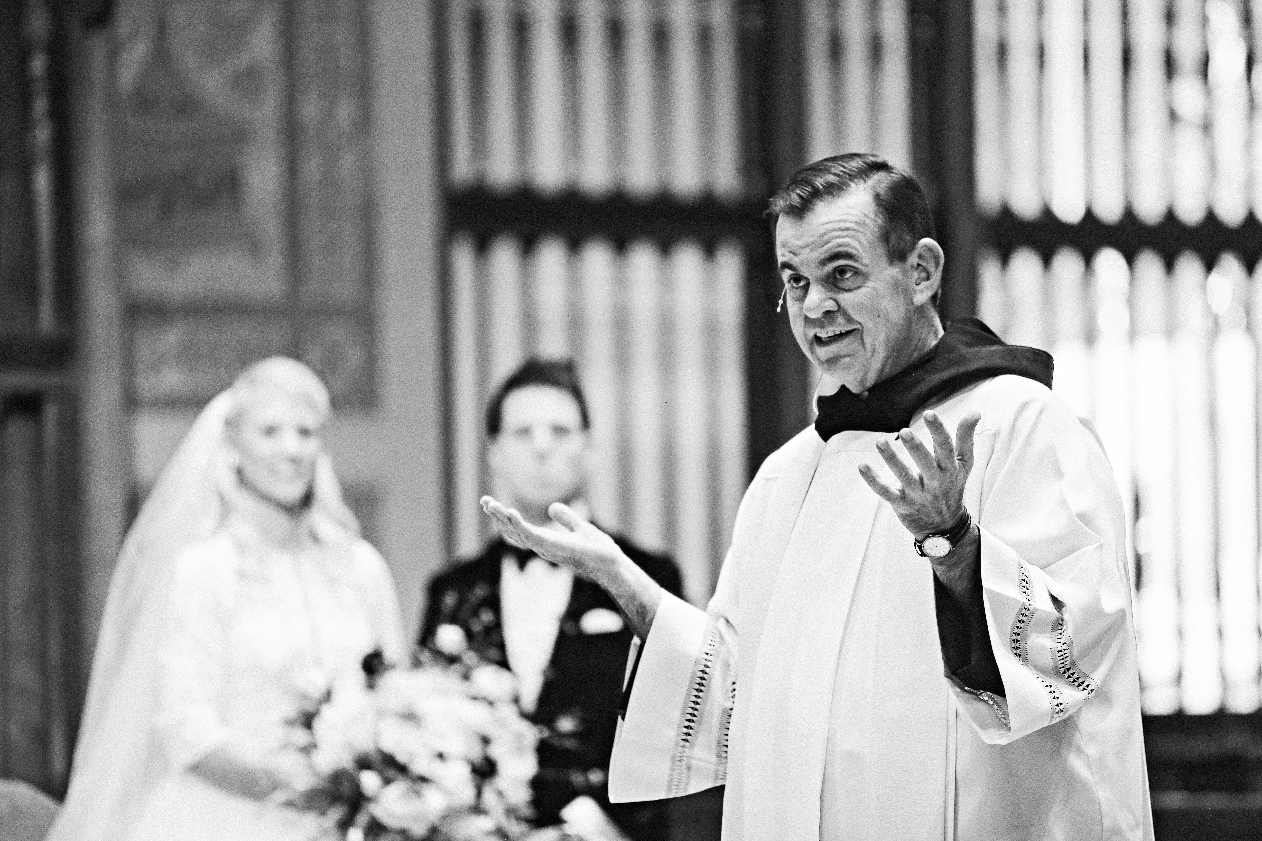 New Years Eve wedding priest