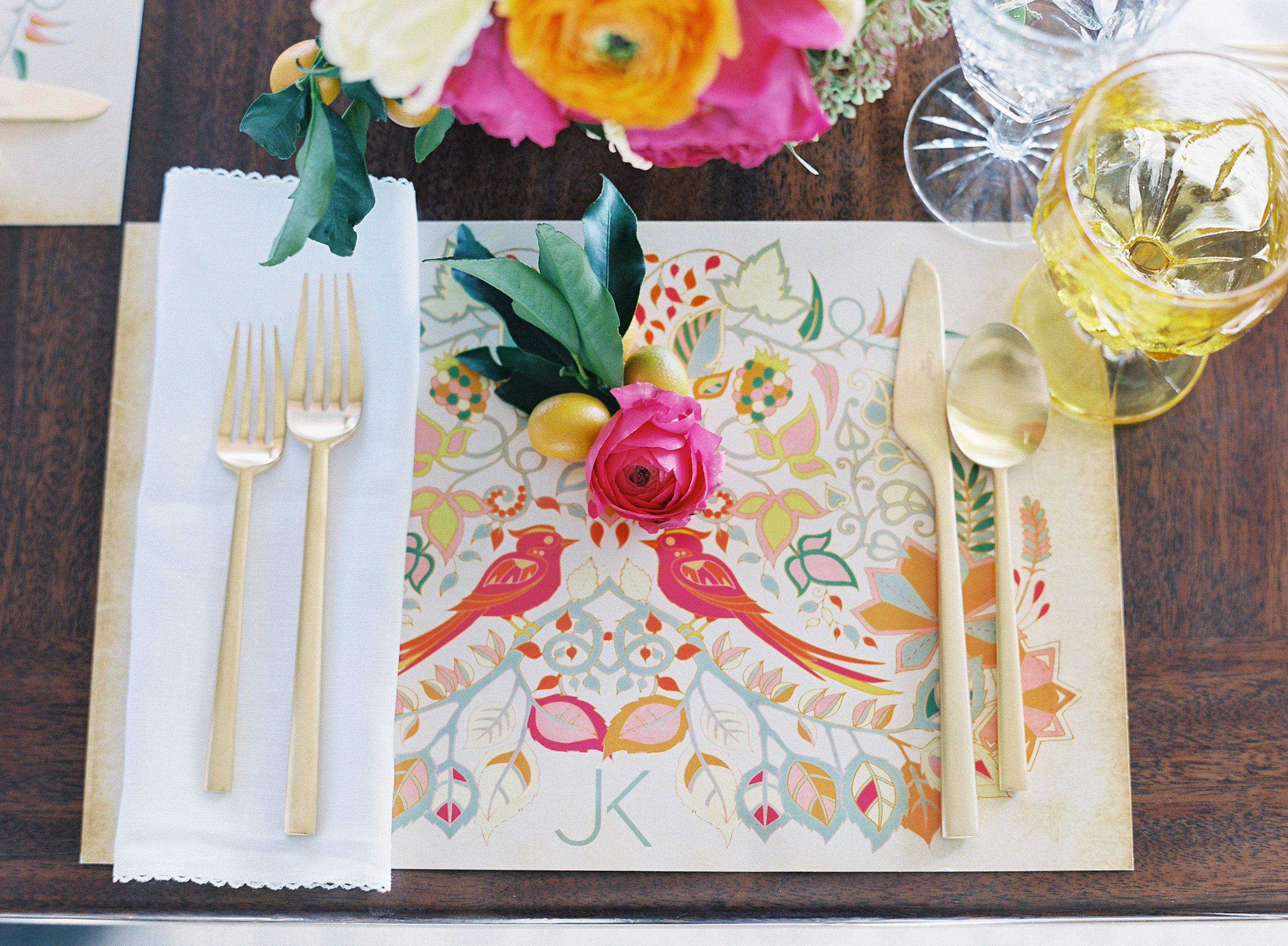 wedding placemat