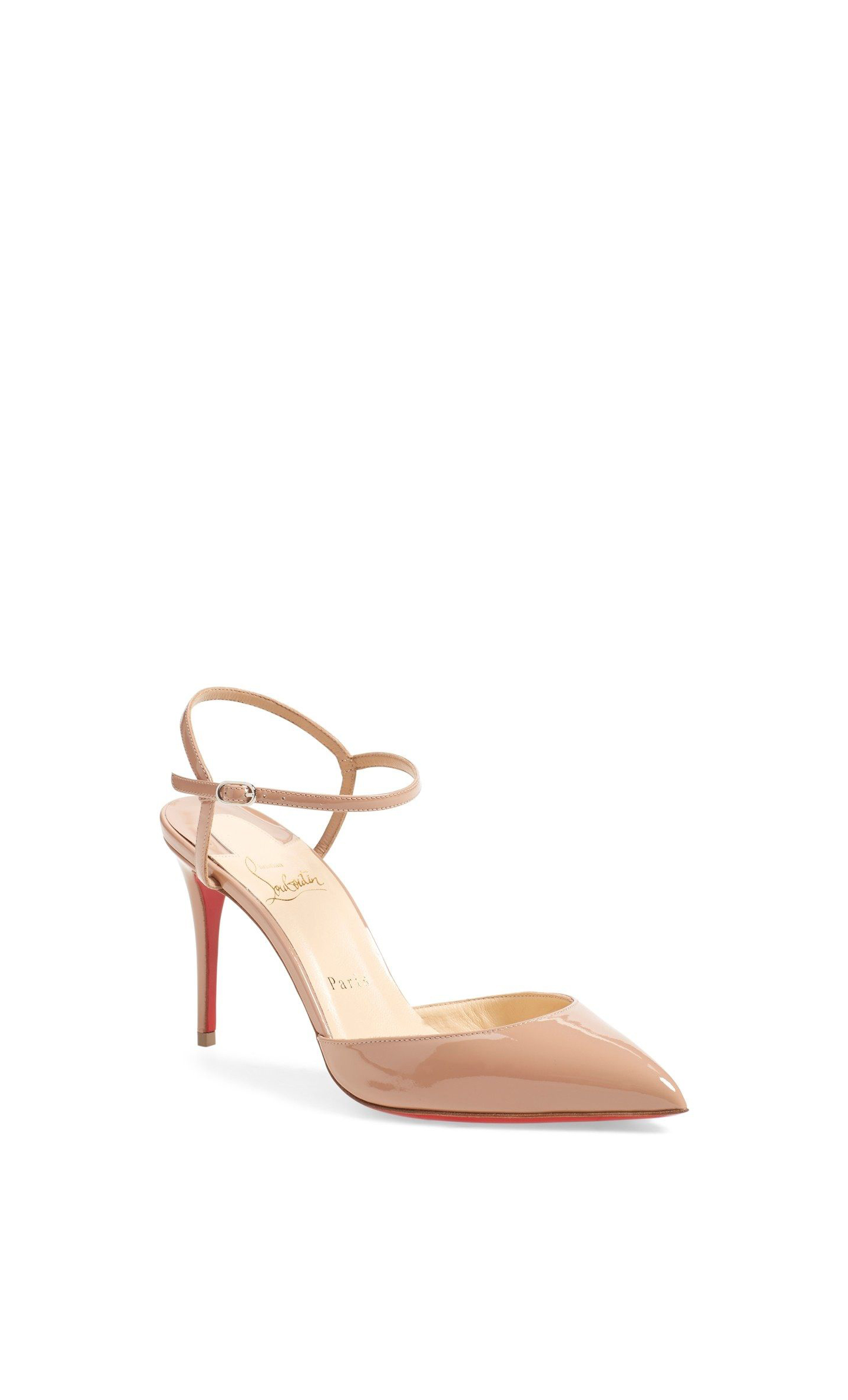 nude shoe ankle strap pump pink