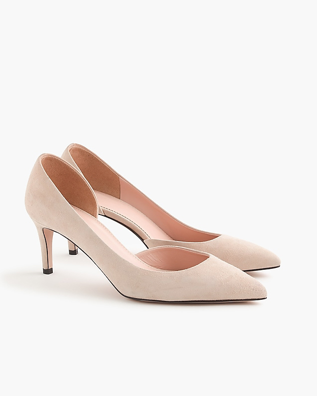 nude shoes pink suede pumps