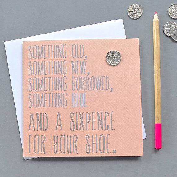 Sixpence Wedding Card