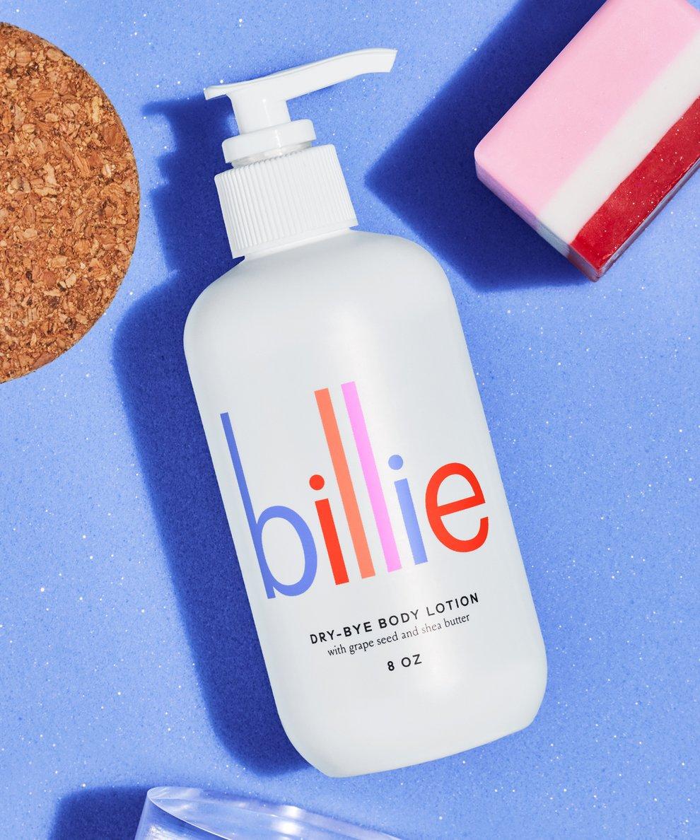 stocking stuffer gift guide billie dry bye hydrating body lotion