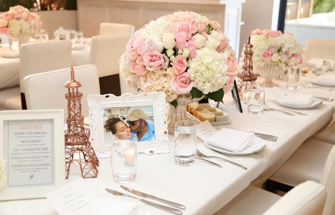 Adrienne Bailons Wedding Shower Table Arrangements