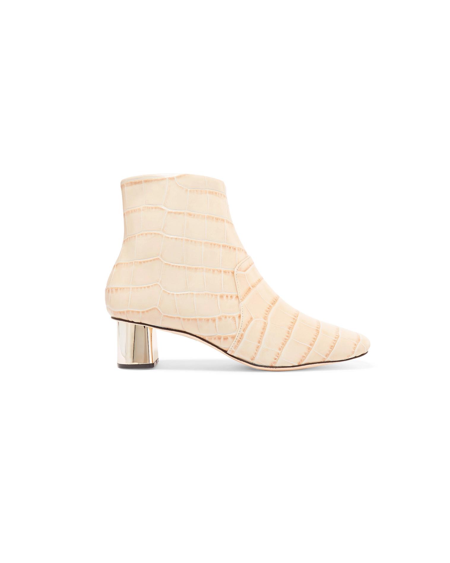 beige bridal booties nanushka clarence ankle chunky heel