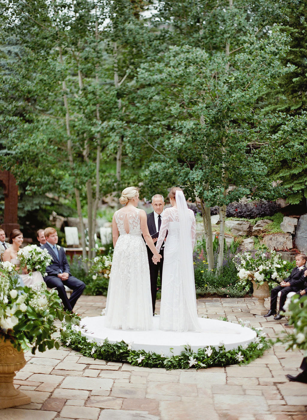 two brides at ceremony