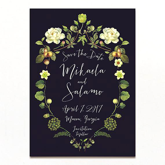 floral crest save the date