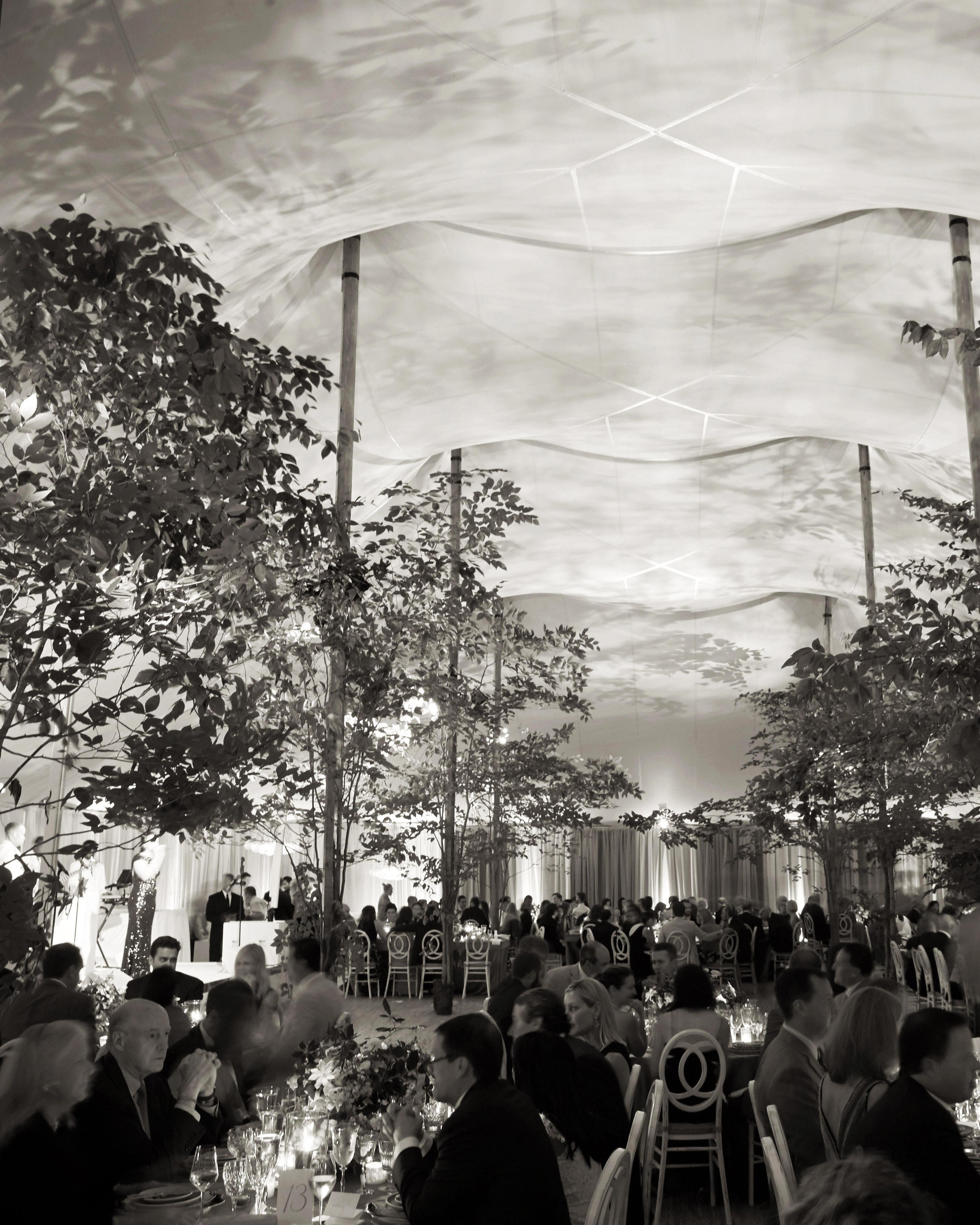 joyann jeremy wedding dinner tent
