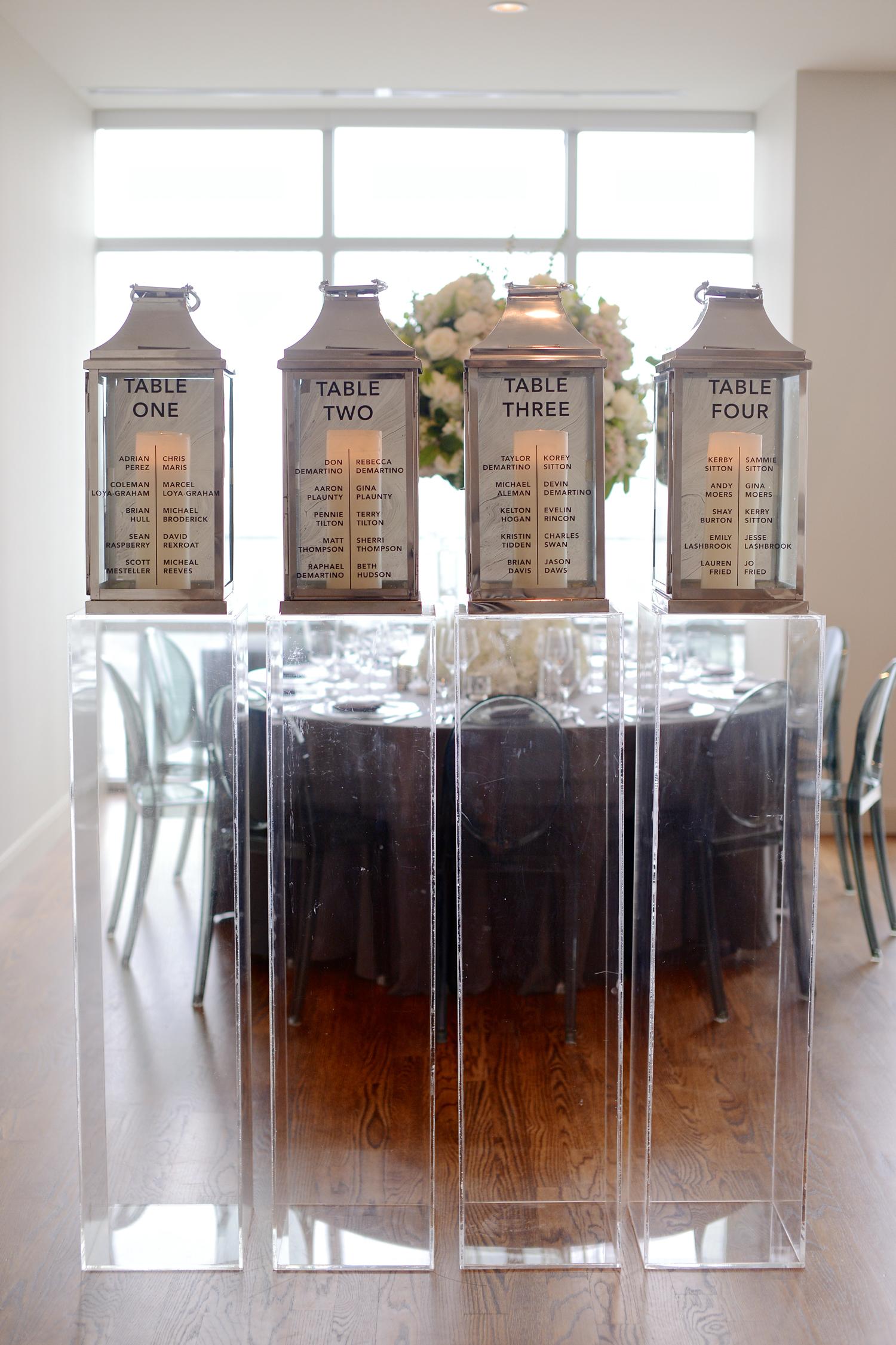 wedding seating lantern