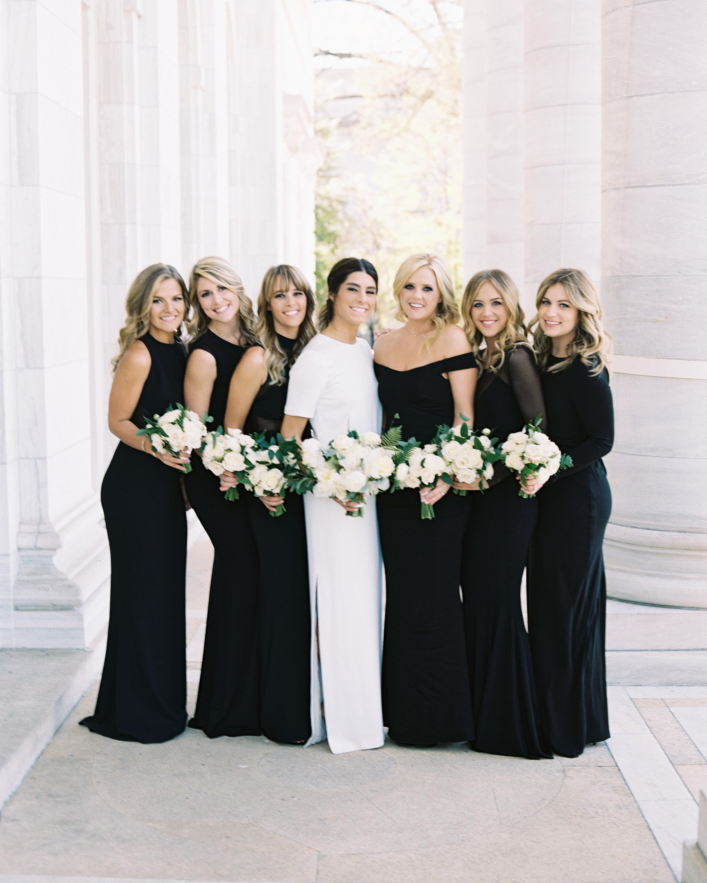 Chic Black Bridesmaid Dresses