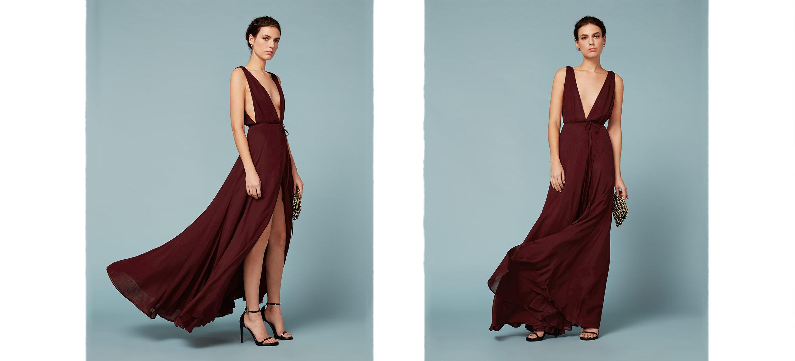 "burgundy bridesmaid dress – Reformation ""Sophia"" Dress"