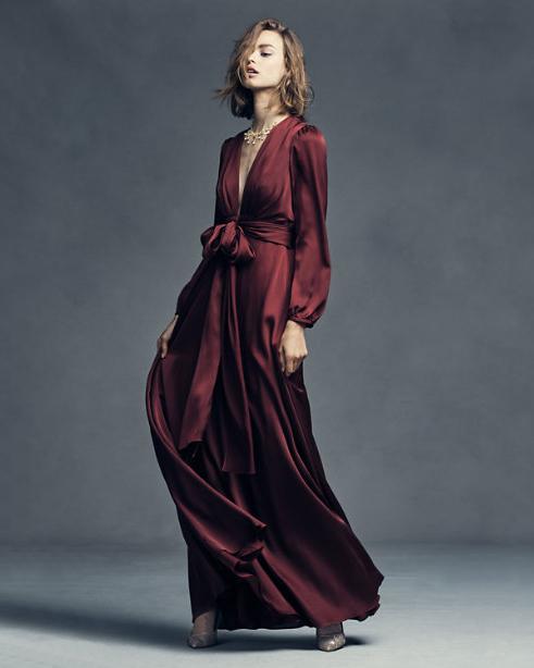 burgundy bridesmaid dress – bhldn henrietta