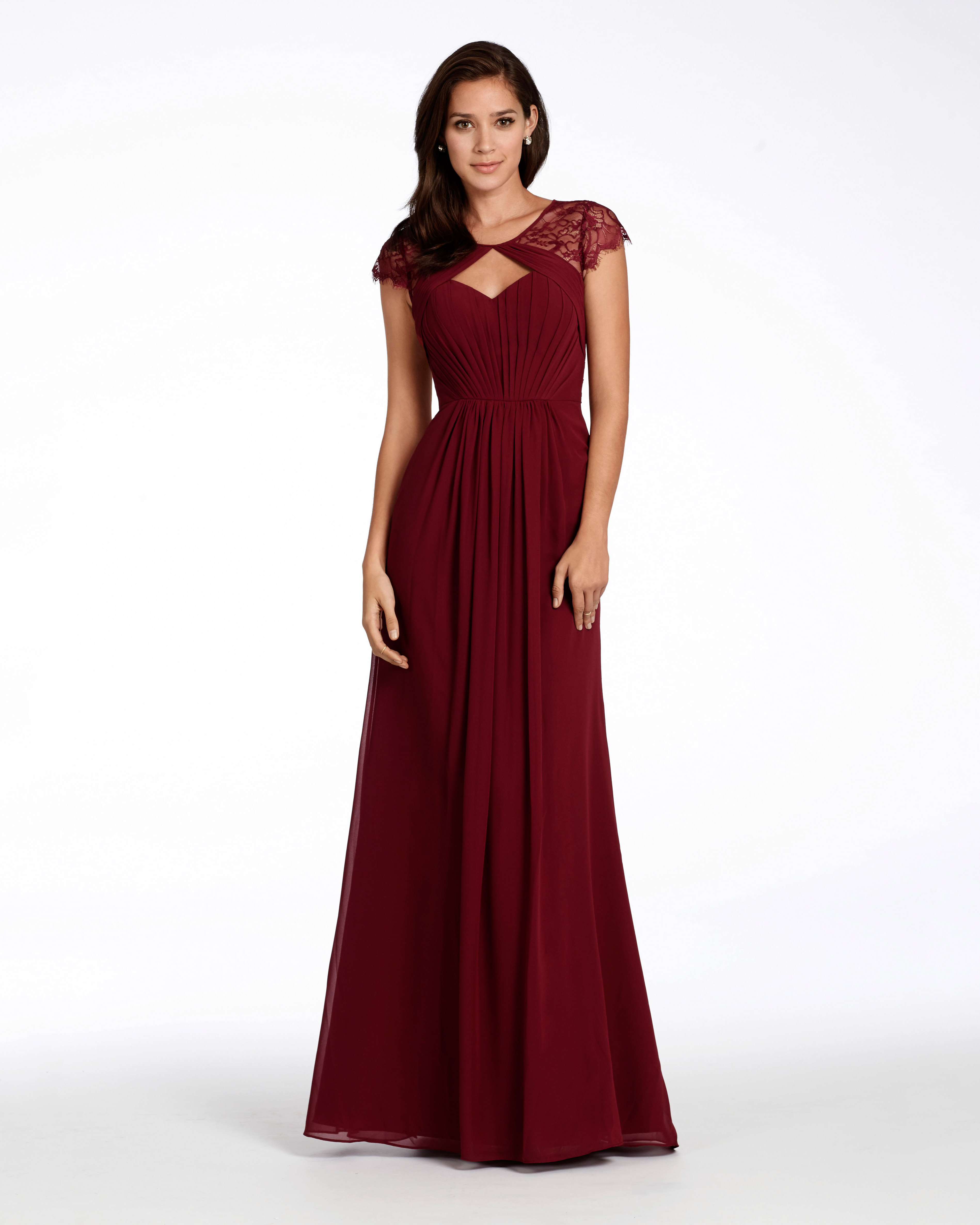"""burgundy bridesmaid dress – Hayley Paige Occasions """"Style 5709"""""""