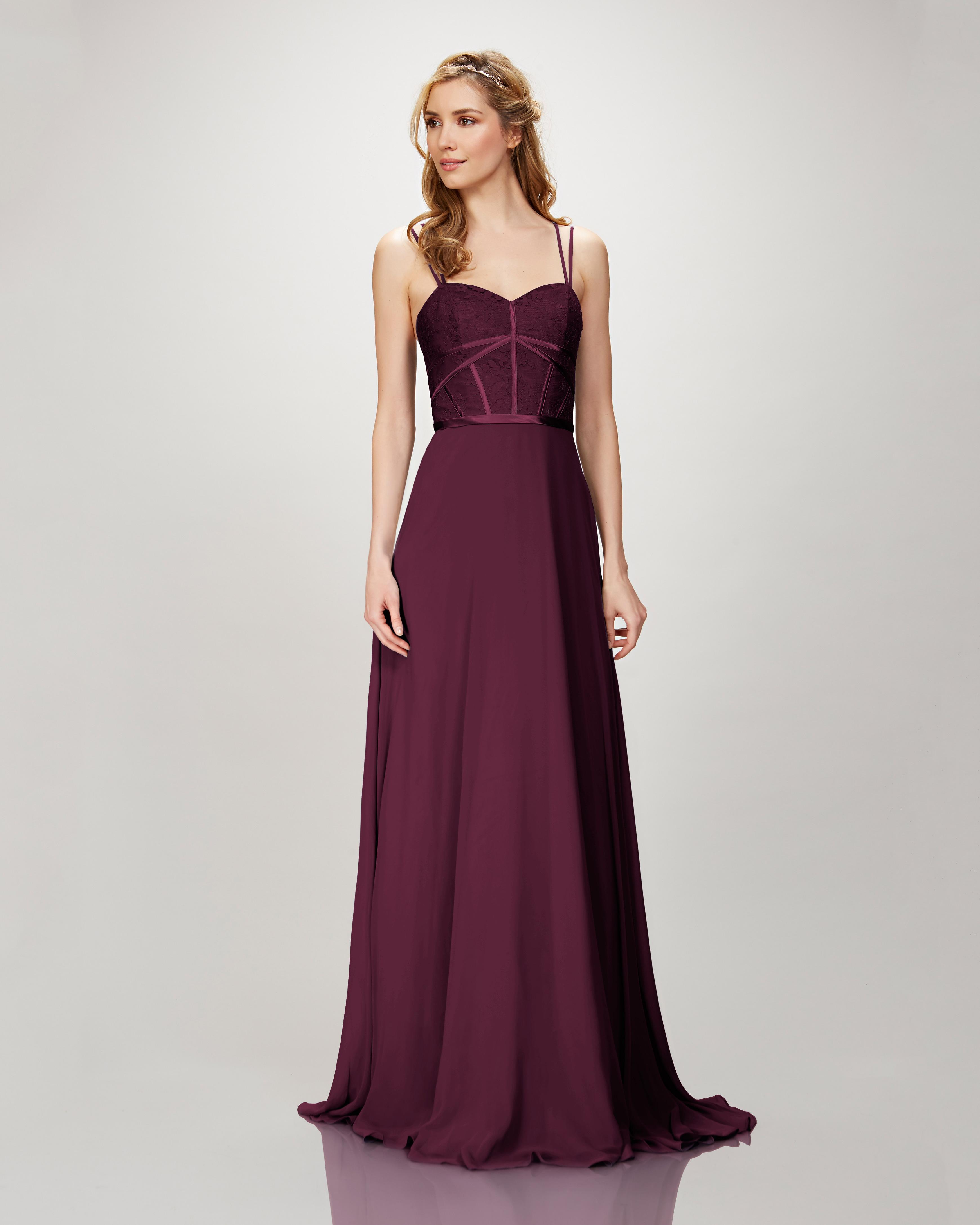 """burgundy bridesmaid dress – Theia """"Style 910132 Elena"""""""