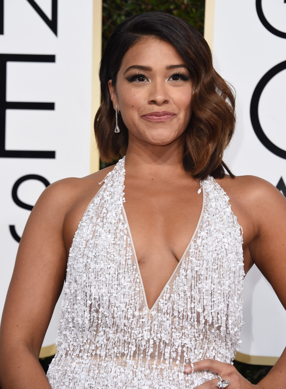 Gina Rodriguez at 2017 Golden Globes