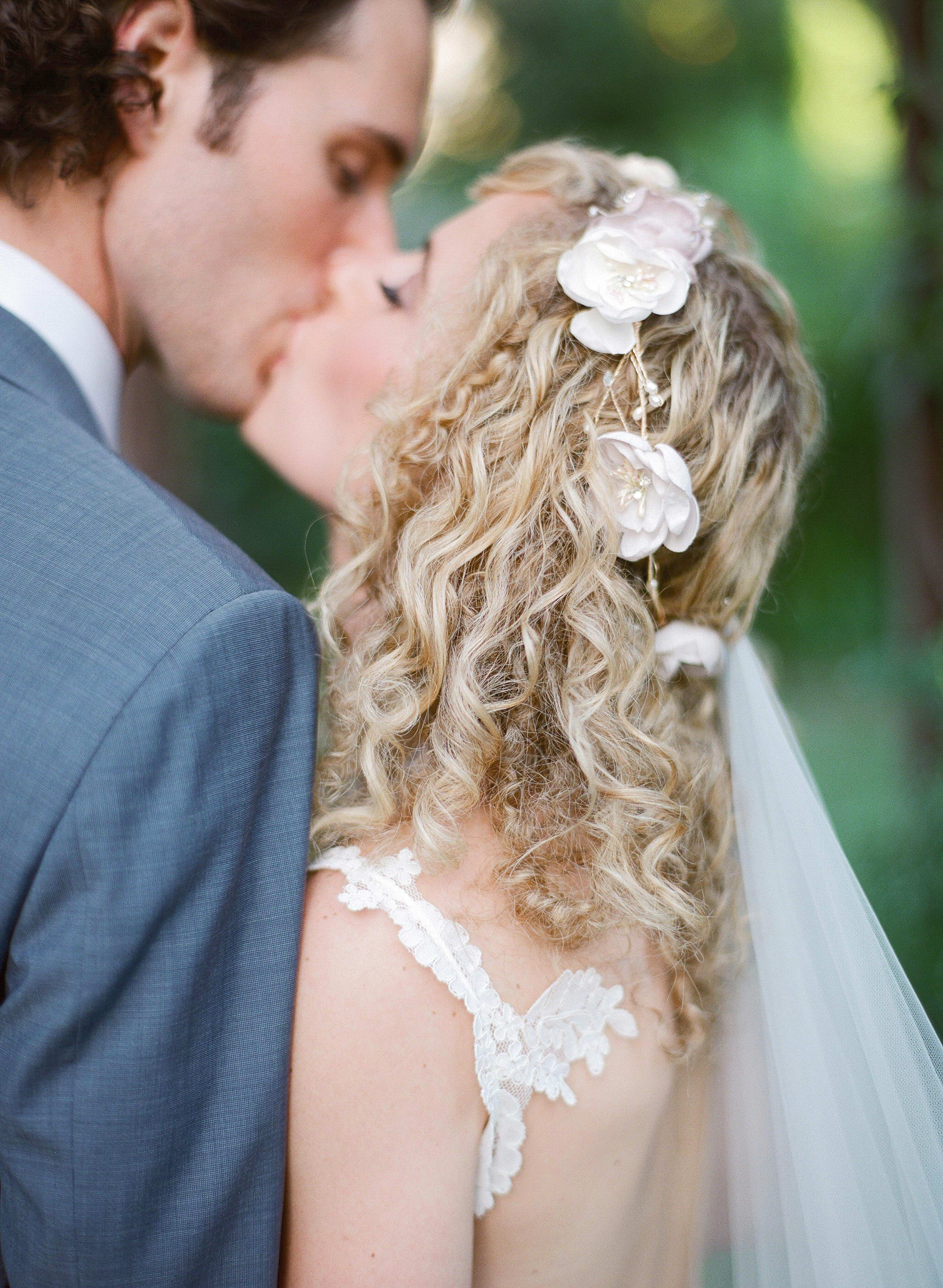 bride and groom's kiss