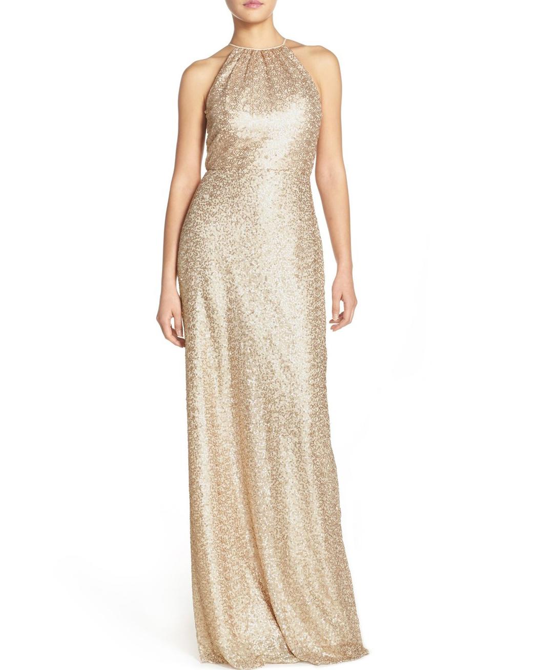 gold bridesmaid