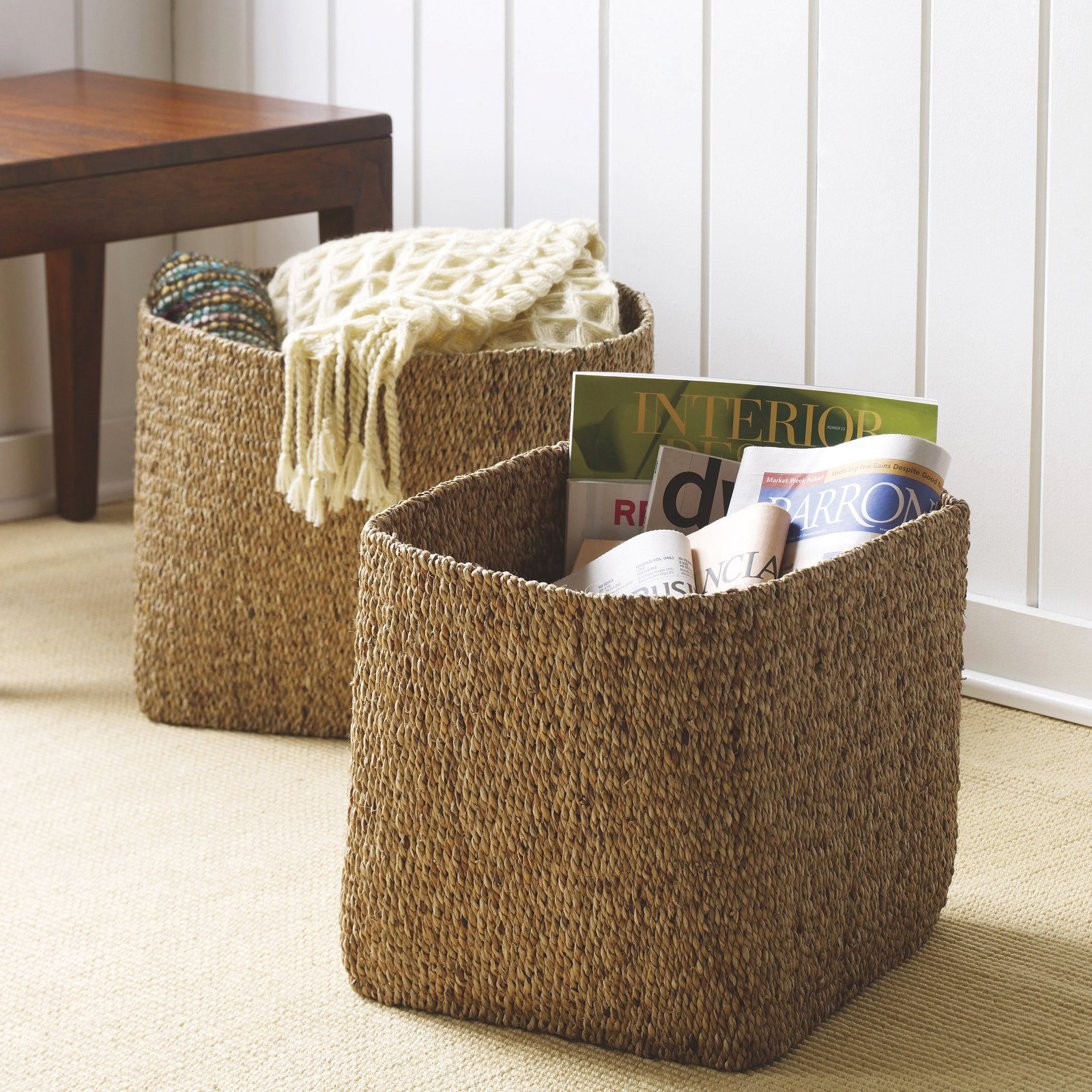 wedding gift hyacinth storage baskets