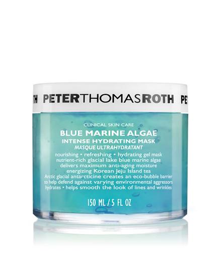 blue marine algae face mask