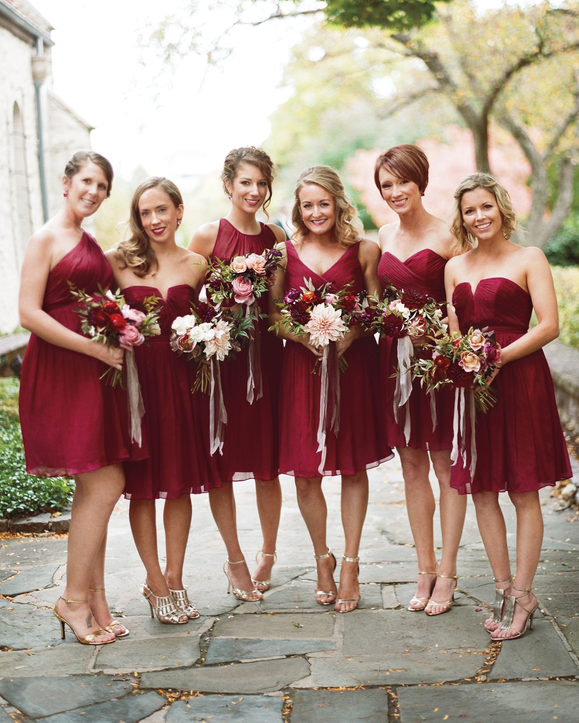 Bold Red Bridesmaids' Dresses Your Entire Wedding Party Will Love