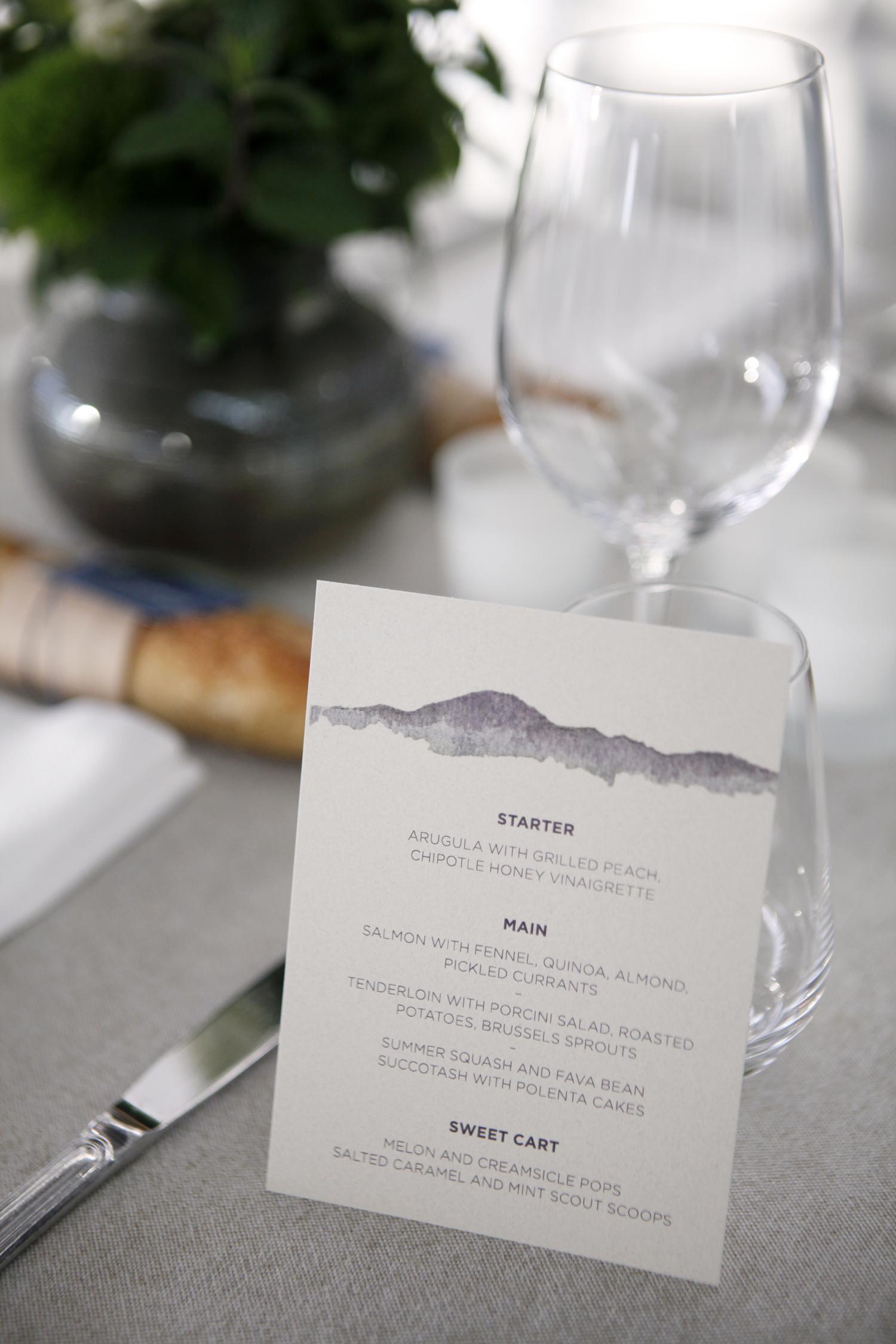tommy steve wedding menu