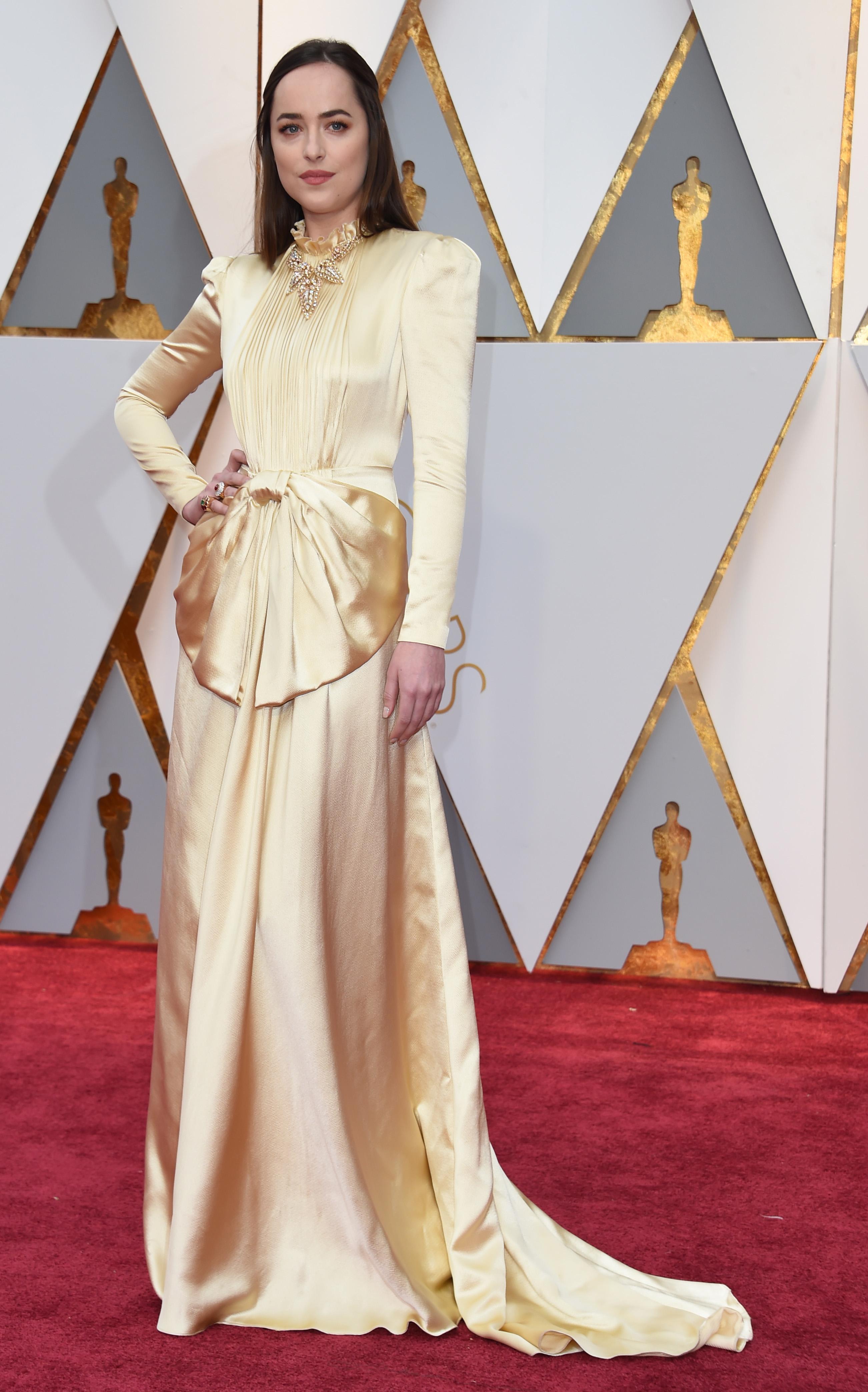 Dakota Johnson 2017 OscarsRed Carpet