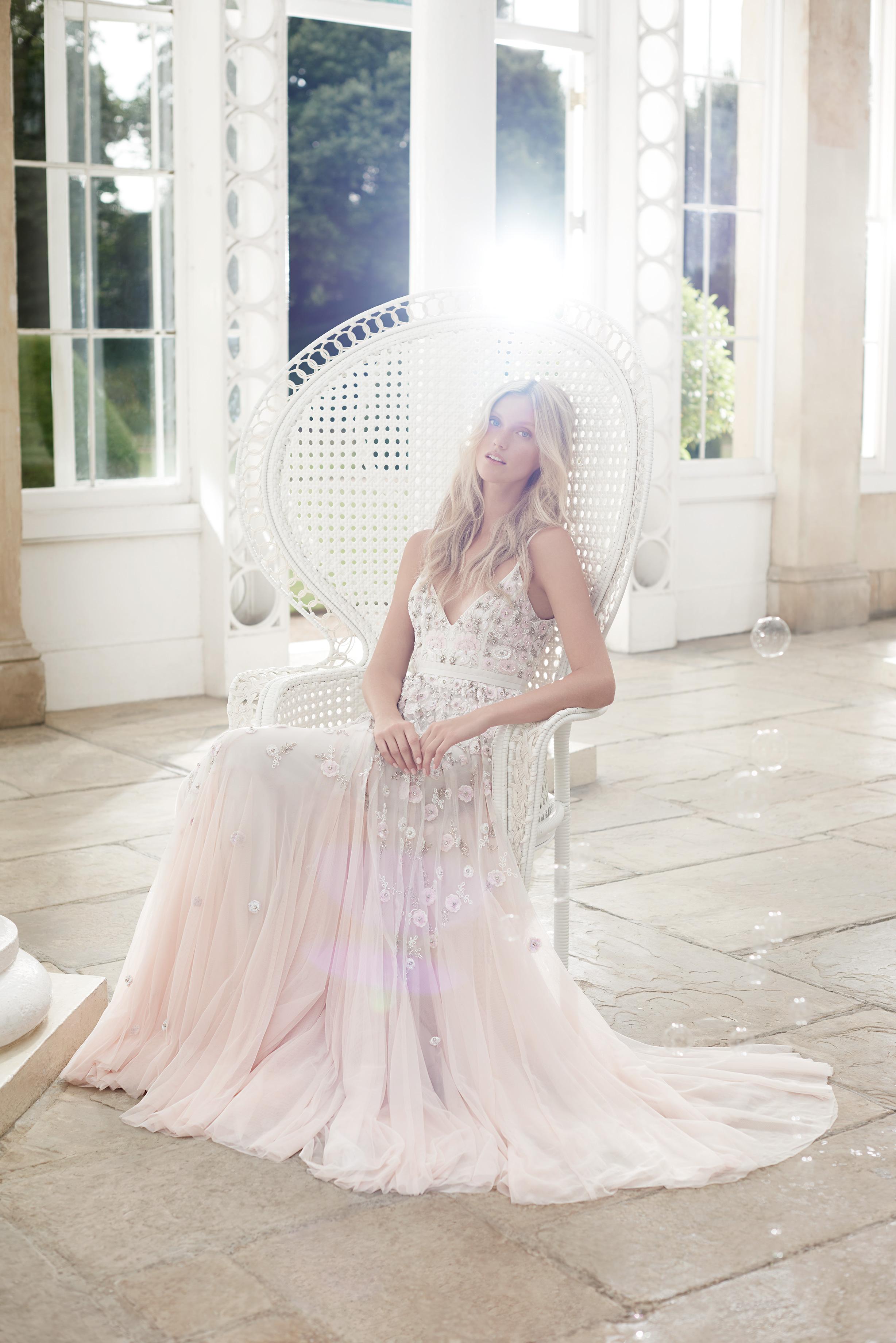 needle and thread wedding dress spring2017 blush