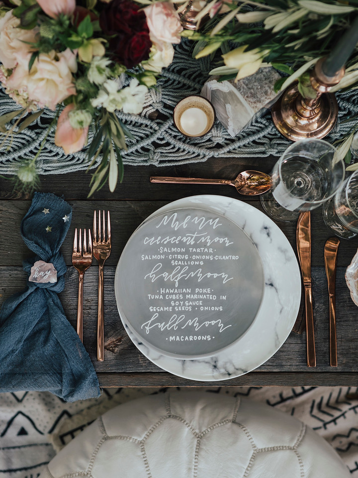 Celestial Wedding Place Setting