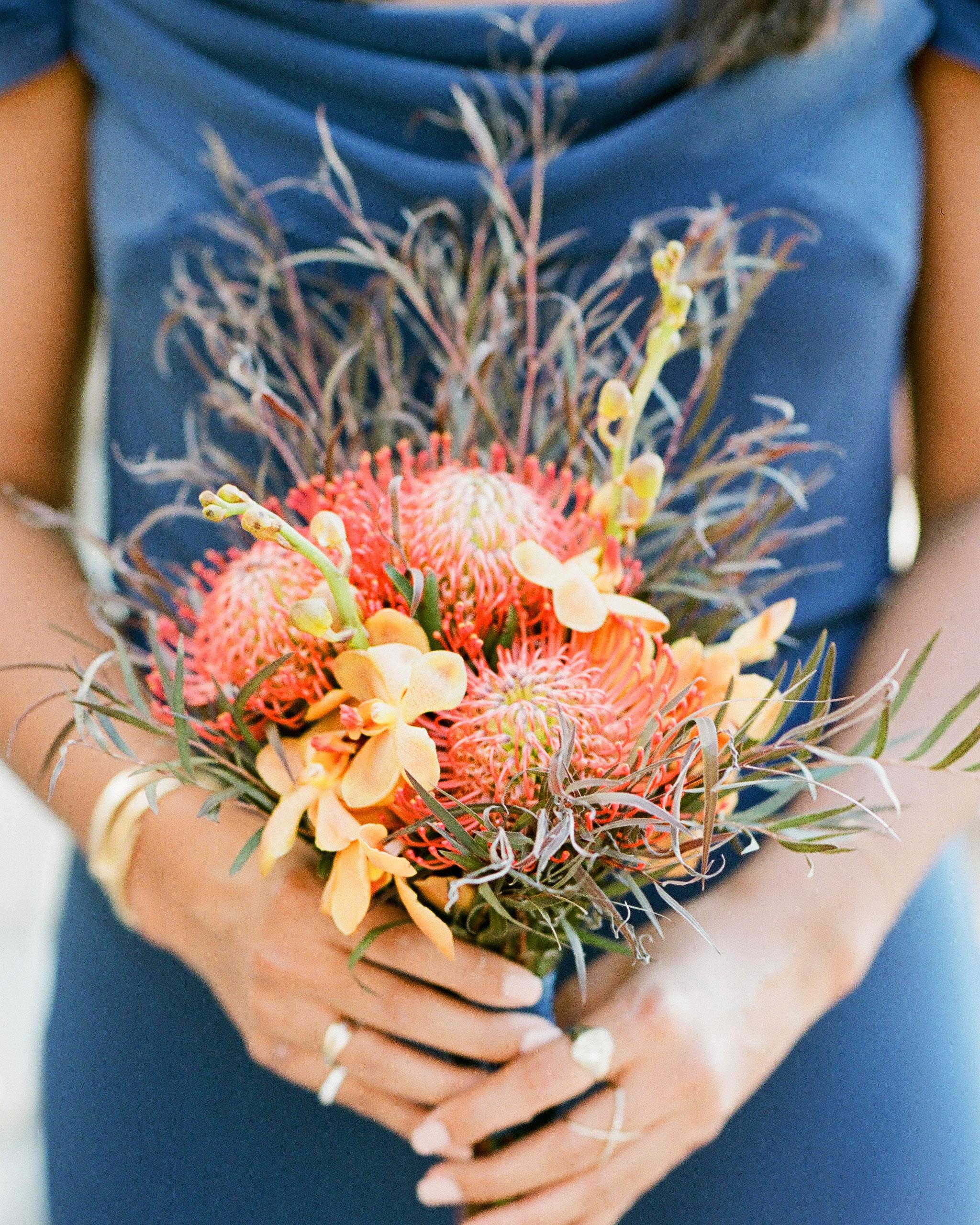 addie alex wedding bridesmaid bouquet