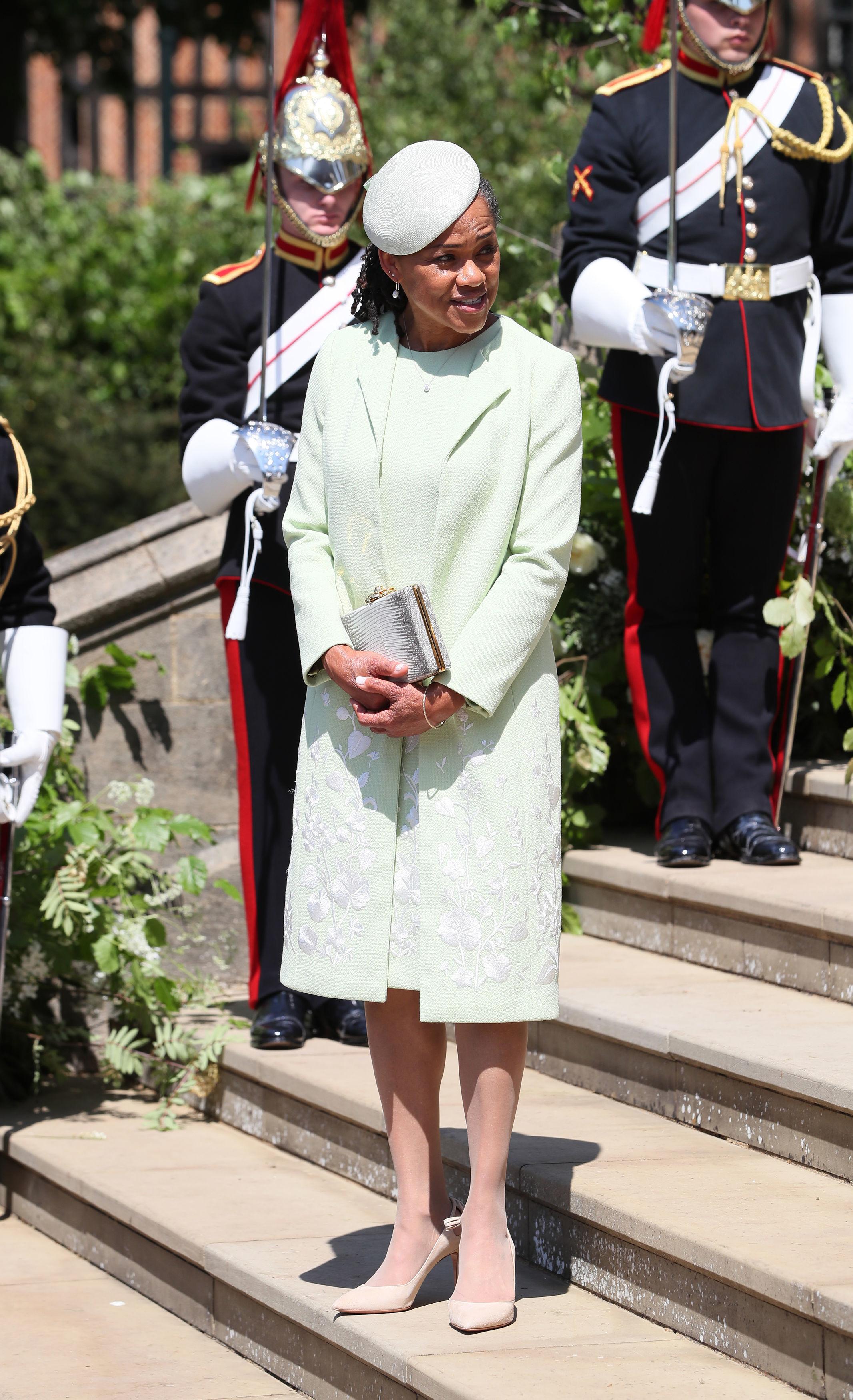 Doria Ragland outfit royal wedding 2018