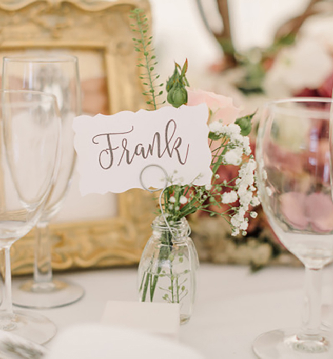 Personal Flower Arrangement place card holders