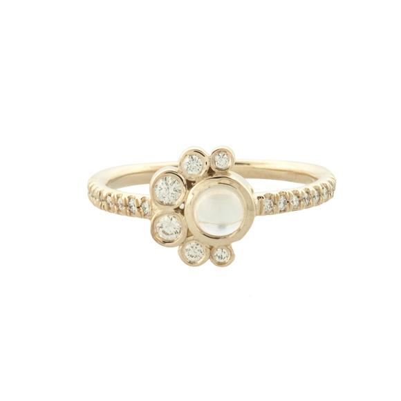 diamond crescent ring