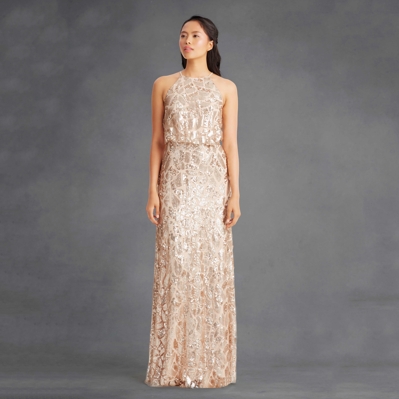 metallic dress
