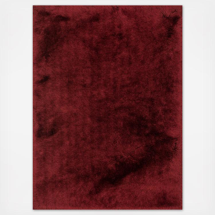 red textured shag rug
