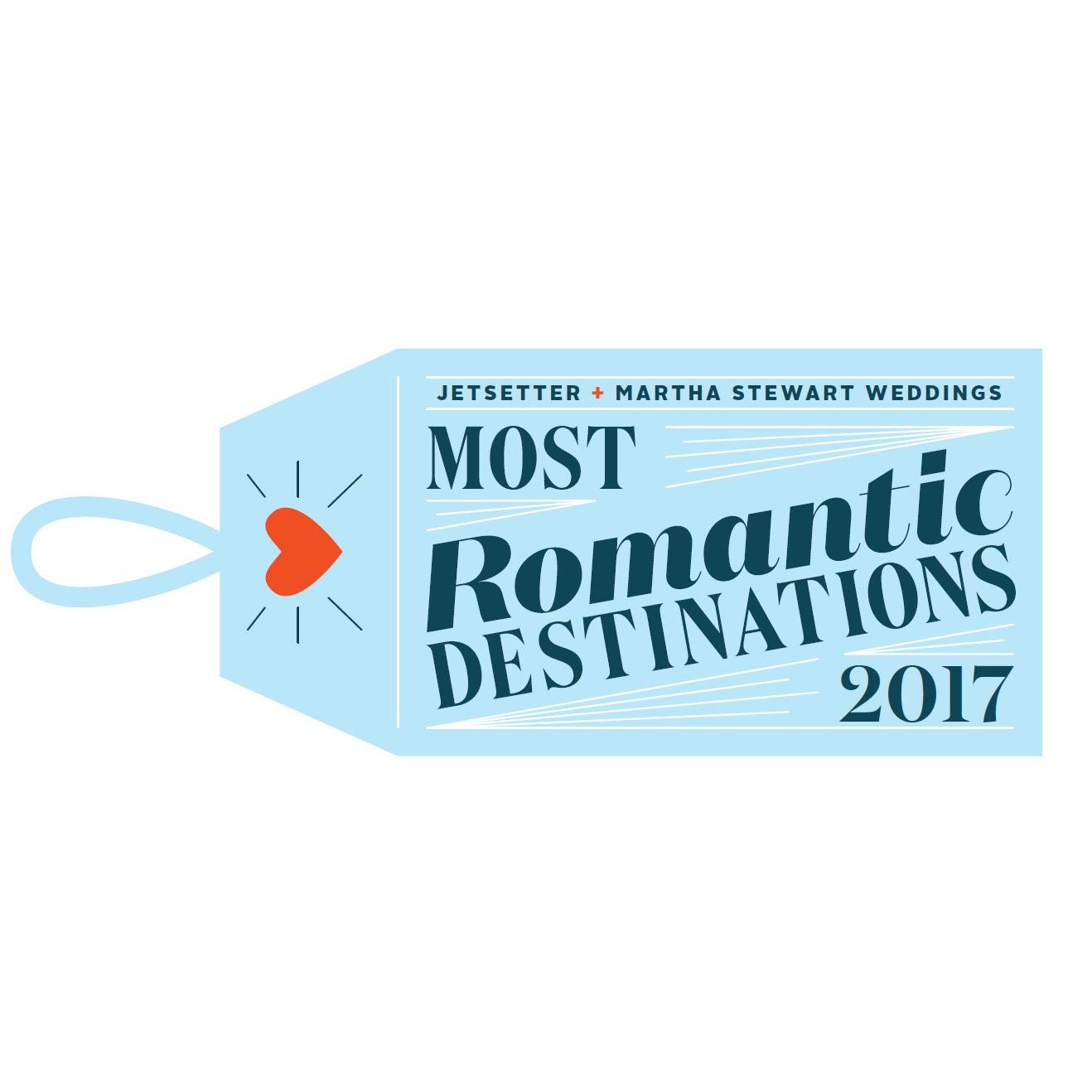 Martha Stewart Weddings and Jetsetter Most Romantic Destinations Survey