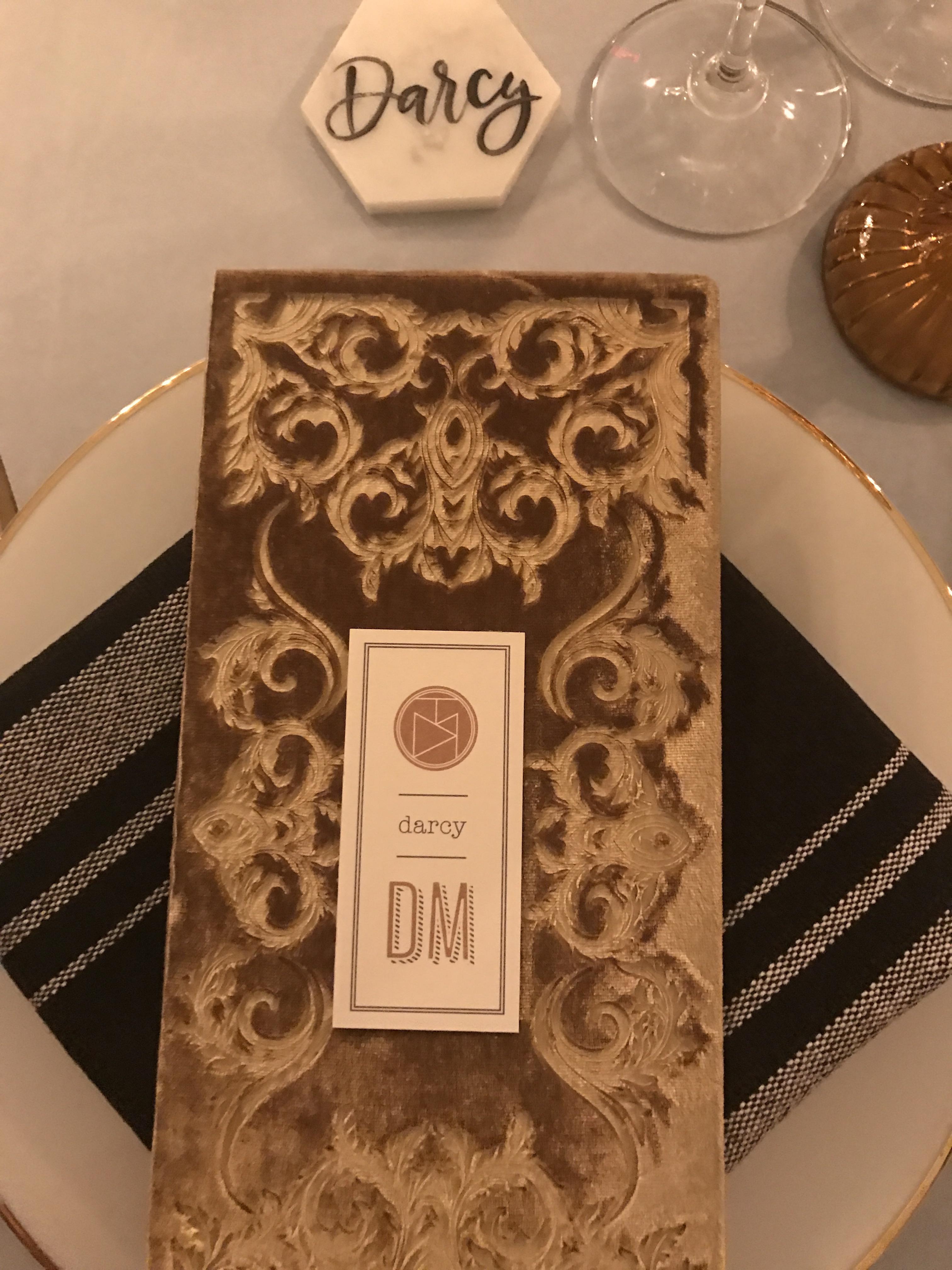 velvet dinner party menus