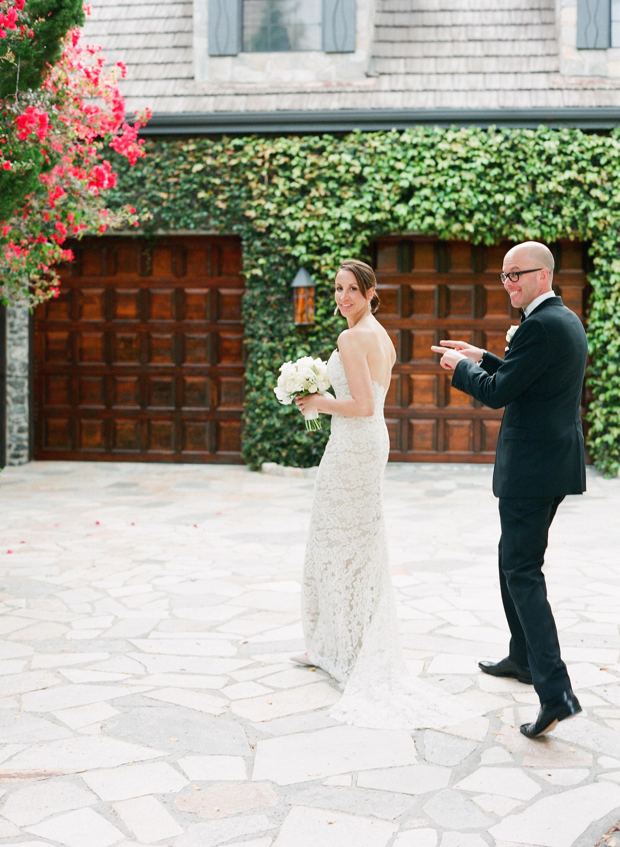 mini moon couple on wedding day